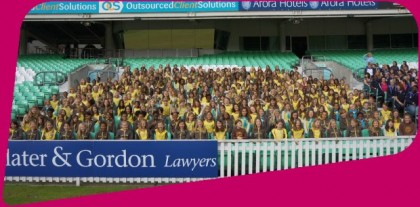 Brownies at the Kia Oval